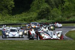 Largada: #6 Muscle Milk Pickett Racing HPD ARX-03a: Klaus Graf, Lucas Luhr lidera