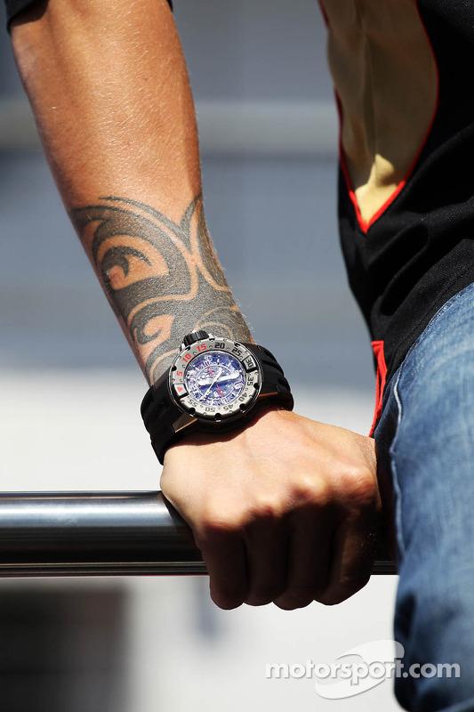 Het horloge van Kimi Raikkonen, Lotus F1 Team
