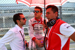Jules Bianchi, Marussia F1 Team with Nicolas Todt, Driver Manager on the grid
