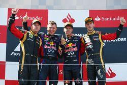 Podium: 1er Sebastian Vettel, Red Bull Racing, 2e Kimi Räikkönen, Lotus F1 Team, 3e Romain Grosjean, Lotus F1 Team