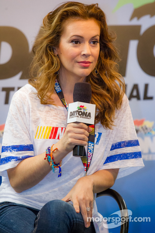 """Alyssa Milano presents her clothing collection """"Touch by Alyssa Milano"""" for NASCAR female fans"""
