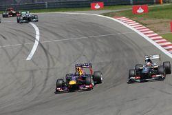 Sebastian Vettel, Red Bull Racing et Nico Hülkenberg, Sauber F1 Team