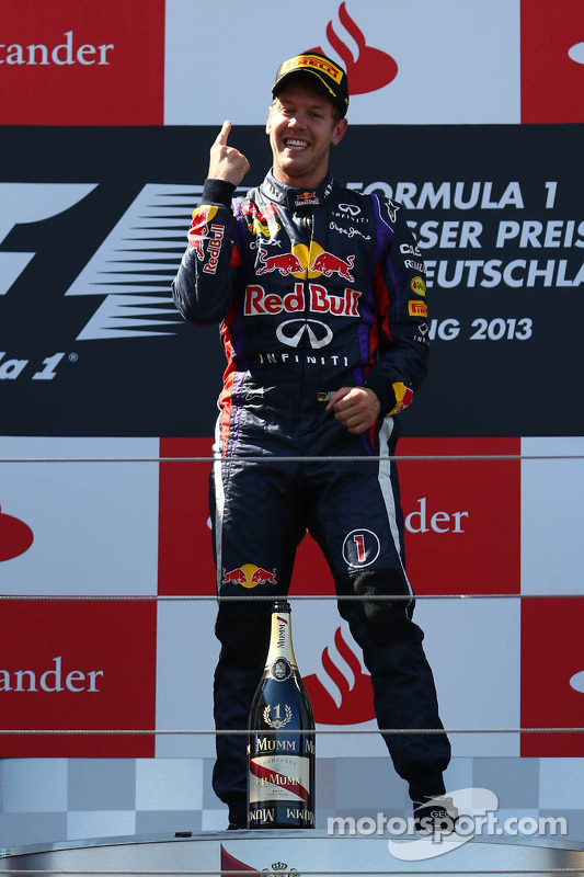 primeiro colocado Sebastian Vettel, Red Bull Racing