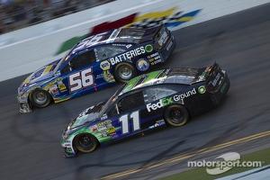Denny Hamlin and Martin Truex Jr.
