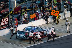 Pit stop for Joey Logano
