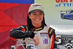 Race winner Ashley Freiberg
