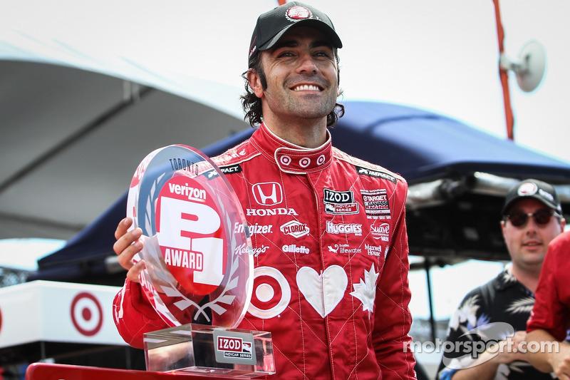 Dario Franchitti, Target Chip Ganassi Racing Honda viert feest