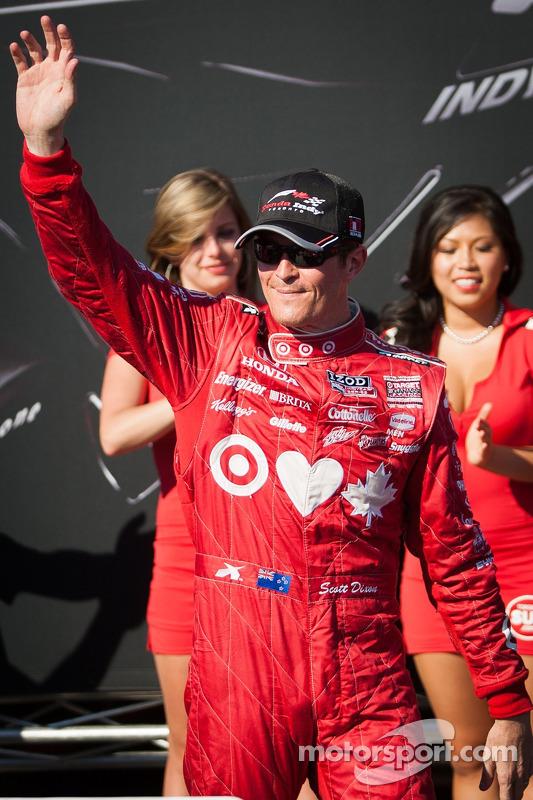Scott Dixon, Target Chip Ganassi Racing Honda Target Chip Ganassi Racing celebrates