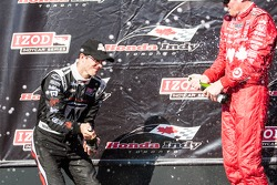 Sébastien Bourdais, Dragon Racing Chevrolet et Scott Dixon, Target Chip Ganassi Racing Honda