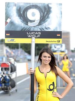 Grid girl of Lucas Wolf
