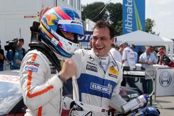 Second place Robert Wickens, Mercedes AMG DTM-Team HWA DTM Mercedes AMG C-Coupe and Gary Paffett, Me