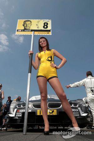 Grid girl of Joey Hand, BMW Team RBM BMW M3 DTM
