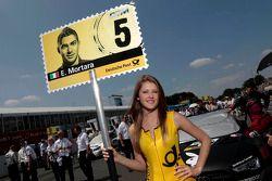 Grid girl of Edoardo Mortara, Audi Sport Team Rosberg Audi RS 5 DTM