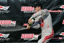 Sébastien Bourdais, Dragon Racing Chevrolet celebrates