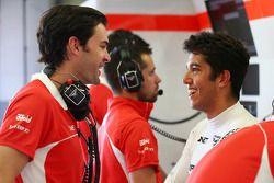Marc Hynes, Marussia F1 Team Driver Coach avec Rodolfo Gonzalez, Marussia F1 Team Reserve Driver