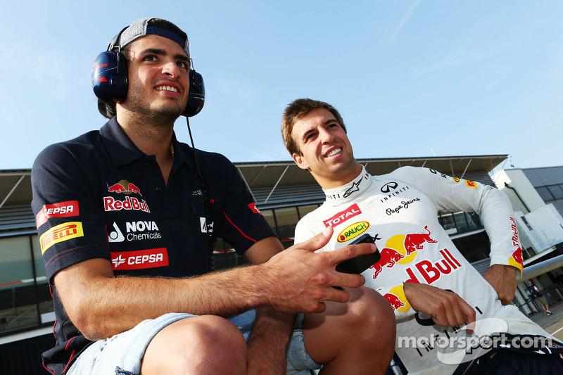 Carlos Sainz Jr., Scuderia Toro Rosso piloto de prueba con Antonio Félix da Costa, Red Bull Racing piloto de prueba