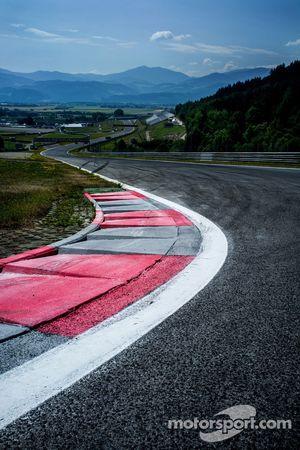 Uitzicht op het circuit