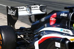 Sauber C32 running a double DRS system