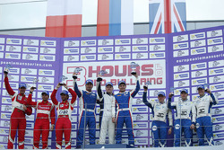 GTC podium: winners Fabio Babini, Viktor Shaitar, Kirill Ladygin, second place Andrea Rizzoli, Stefano Gai, Lorenzo Case, third place Ollie Millroy, Andrew Smith, McCaig