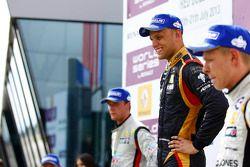 Podium: winnaar Marco Sorensen, 2e plaats Nigel Melker, 3e plaats Kevin Magnussen