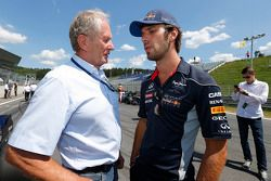 Helmut Marko en Jean-Eric Vergne, Red Bull Racing