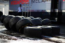 Des pneus Pirelli lavés et utilisés par McLaren