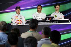 De FIA Persconferentie, Red Bull Racing, tweede; Lewis Hamilton, Mercedes AMG F1, pole position; Rom