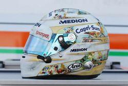Le casque d'Adrian Sutil, Sahara Force India F1