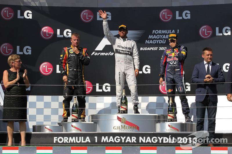 2013: 1. Lewis Hamilton, 2. Kimi Räikkönen, 3. Sebastian Vettel