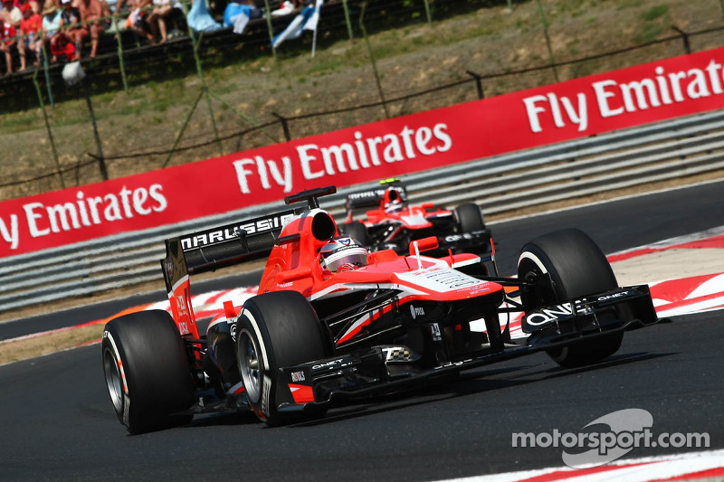 Jules Bianchi, Marussia F1 Team MR02 leads team mate Max Chilton, Marussia F1 Team MR02
