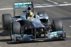 Lewis Hamilton, Mercedes AMG F1 W04 takes the win