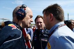 Adrian Newey, Red Bull Racing director técnico con Christian Horner, director del equipo Red Bull Ra