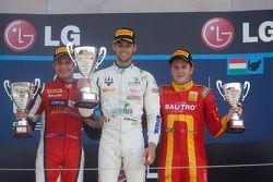 Race winner Nathanael Berthon, second place Mitch Evans, third place Fabio Leimer