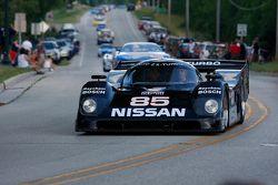 De racewagens paraderen door Elkhart Lake:#85 1990 Nissan NPT: George Krass