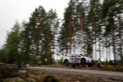 Микко Марккула и Андреас Миккельсен. Ралли Финляндия, тестовый СУ.