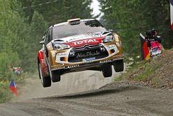 Даниэль Сордо и Карлос дель Баррио. Ралли Финляндия, тестовый СУ.