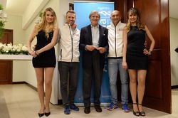 Tiago Monteiro, Team Principal, Honda Racing Team Jas e Gabriele Tarquini, Honda Civic, Honda Racing