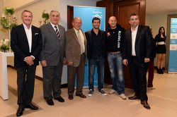 Marcello Lotti, WTCC General Manager, Miguel Mukdise, BMW 320 TC, Wiechers-Sport, Robert Huff, SEAT