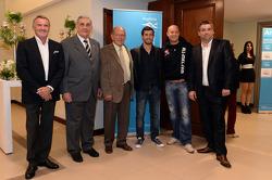Marcello Lotti, WTCC General Manager, Miguel Mukdise, BMW 320 TC, Wiechers-Sport, Robert Huff, SEAT Leon WTCC, ALL-INKL.COM Munnich Motorsport and Fernando Gorbaran, President of Messe Frankfurt Argentina