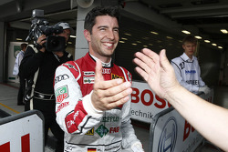 Polesitter Mike Rockenfeller, Audi Sport Team Phoenix Racing Audi A5 DTM