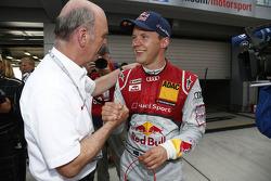 Dr. Wolfgang Ullrich, chefe da Audi Motorsport e Mattias Ekström