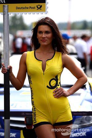 Gridgirl von Gary Paffett, Mercedes AMG DTM-Team HWA, DTM Mercedes AMG C-Coupe