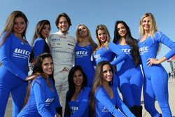 Fernando Monje, SEAT Leon WTCC, Campo Racing with Grid Girls