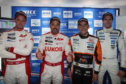 Press conference: Chevrolet Cruze 1.6T, RML pole position, Norbert Michelisz, Honda Civic, Zengo Mot