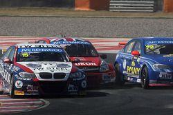 Tom Coronel, BMW E90 320 TC, ROAL Motorsport, James Thompson, Lada Granta, LADA Sport Lukoil et José Maria Lopez, BMW 320 TC, Wiechers-Sport