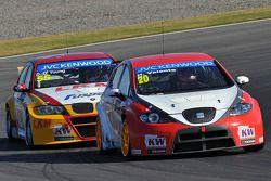 Hugo Valente, SEAT Leon WTCC, Campos Racing e Darryl O'Young, BMW E90 320 TC, ROAL Motorsport