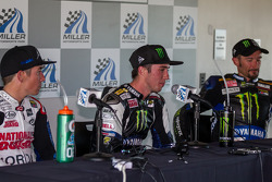 Josh Herrin answering questions after Race #1 victory