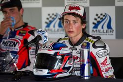 Joe Roberts after winning SuperSport Race #1 (perfect 4 of 4 since joing AMA)