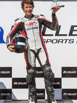 16-year-old Joe Roberts after winning SuperSport Race #2 (perfect 5 of 5 since joing AMA)