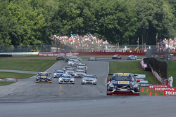 Race Start- Alex Figge, Volvo S60 leads
